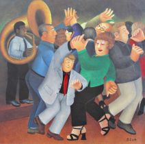 Beryl Cook (1926-2008) - 'Jiving to Jazz' signed, limited 372/650 colour lithograph print, published