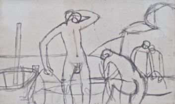 Keith Vaughan (1912-1977) - 'Figures on a Beach', unsigned, inscribed Anthony Hepworth Fine Art