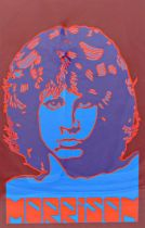 Peter Marsh (20th century) - 'Morrison', iconic study of Jim Morrison, signed and dated 1992,