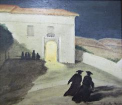 John Spencer Churchill (1909-1992) - 'Two Monks Crossing the Sand of the Aqueduct in Sergovia in the