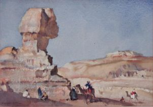 William Russell Flint (1880-1969) - 'The Sphinx', signed, signed, titled and dated March 1961 verso,