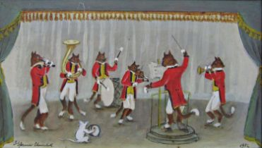 John Spencer Churchill (1909-1992) - 'The Cat Band', signed and dated 1982, titled verso with