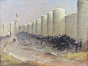 John Spencer Churchill (1909-1992) - 'The Goat Market by the Walls at Dawn, Avila, Spain', signed,