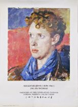 Augustus John National Museum and Gallery of Cardiff poster, featuring Dylan Thomas, 70 x 50cm,
