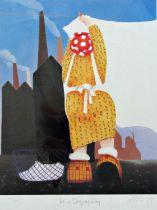 Mackenzie Thorpe (B.1956) - 'Its A Drying Day', signed, limited 611/850 colour print, Washington
