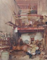 William Russell Flint (1880-1969) - 'The Coopers Luncheon, St Tropez', signed, various labels