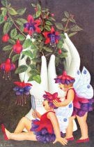 Beryl Cook (1926-2008) - 'Fuchsia Fairies', signed, limited edition 458/650, coloured print