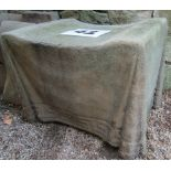 A concrete stool with simulated fabric finish