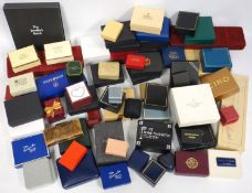 A large quantity of jewellery boxes, pen cases vintage and modern