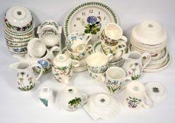 Large quantity of Portmeirion, Botanic garden, including serving dishes, bowls, plates, tea set,