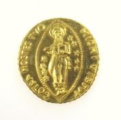 Order of St John, Maltese Gold coin (contemporary), 22 ct, Dia. 2.1cm approx., weight 6.8 grams