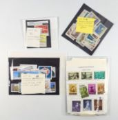 A collectors group of world stamps, including some unusual examples, North Korea 1956,French