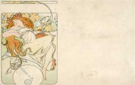 Mucha, A. Frau Künstlerkarte II (Eckbugu. abgestoßen)