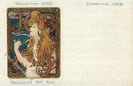 Mucha, Alfons Collection JOB Calendrie 1897 II (kl. Einriss) R!