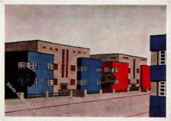 Bauhaus Celle (3100) Wohnhaussiedlung Italienischer Garten Architekt Haesler I-II (kl. Stauchung)