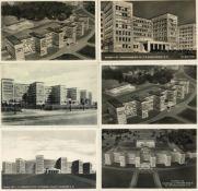 BAUHAUS-STIL - FRANKFURT/Main - 6 versch. Ak d. Verwaltungs- u. Wirtschafts-Gebäude d. I.G.FARBEN AG