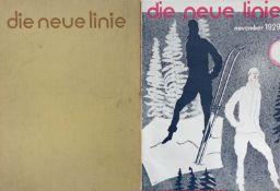 Bauhaus Illustrierte die neue Linie original Sammelmappe mit 4 Heften mit Fehlseiten 1 Heft ohne