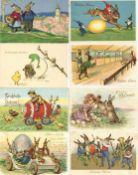 Ostern Partie mit circa 800 Ansichtskarten vor 1945 mit vielen Präge-Karten gratis dazu ca. 100 Kart
