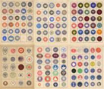 Siegelmarken, Verschlussmarken und Fiskalmarken, grosse Sammlung von ca. 6000 Verschlussmarken, vorw