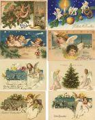 Weihnachten meist Engel Partie mit circa 430 Ansichtskarten vor 1945 dazu gratis ca. 50 neuere Karte