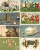 Ostern Partie mit circa 750 Ansichtskarten vor 1945 mit vielen Präge-Karten gratis dazu ca. 100 Kart