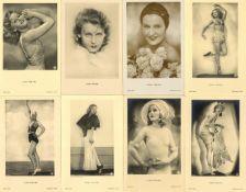 LILIAN HARVEY - Sammlung von 50 versch. Portrait-Ansichtskarten - teils mit Willy Fritsch- überwiege