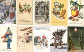 Weihnachten Partie mit circa 1400 Ansichtskarten vor 1945 dazu gratis ca. 400 neuere Karten I-II