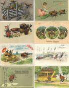 Maikäfer Pfingsten Glückwunsch Partie mit circa 480 Ansichtskarten meist vor 1945 dabei aber auch ei