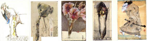 Janssen, Horst Partie mit über 140 Künstler-Karten I-II