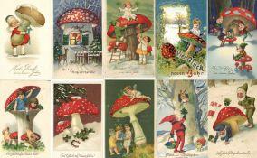 Pilz Neujahr Partie mit über 500 Ansichtskarten vor 1945 dabei sehr schöne Präge-Karten dazu gratis