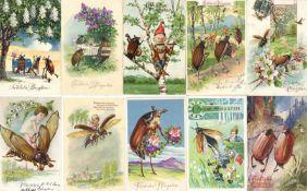 Maikäfer Pfingsten Glückwunsch Partie mit circa 850 Ansichtskarten 1900 bis ca. 60'er Jahre dabei sc