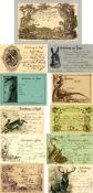 JAGD Sammlung von circa 4500 Ansichtskarten, davon circa 500 Einladungskarten zur Jagd, einige neuer