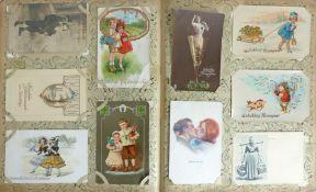 Glückwunsch Weihnachten Pfingsten Ostern Album mit circa 1000 Ansichtskarten viel einfache Karten I-
