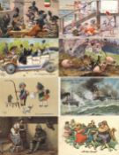 Thiele, Arthur Partie mit circa 200 Künstler-Karten aus Sammlung unterschiedliche Erhaltung I-II