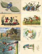 Frosch Partie mit circa 180 Ansichtskarten vor 1945 I-II