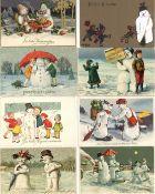 Schneemann Partie mit über 570 Ansichtskarten modernere Karten nicht mitgezählt dabei schöne Präge-K