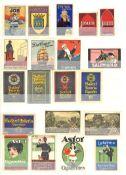 Vignette Steckalbum mit circa 840 Stück I-II