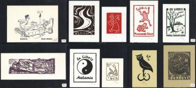 Ex Libris Album mit über 200 Stück I-II