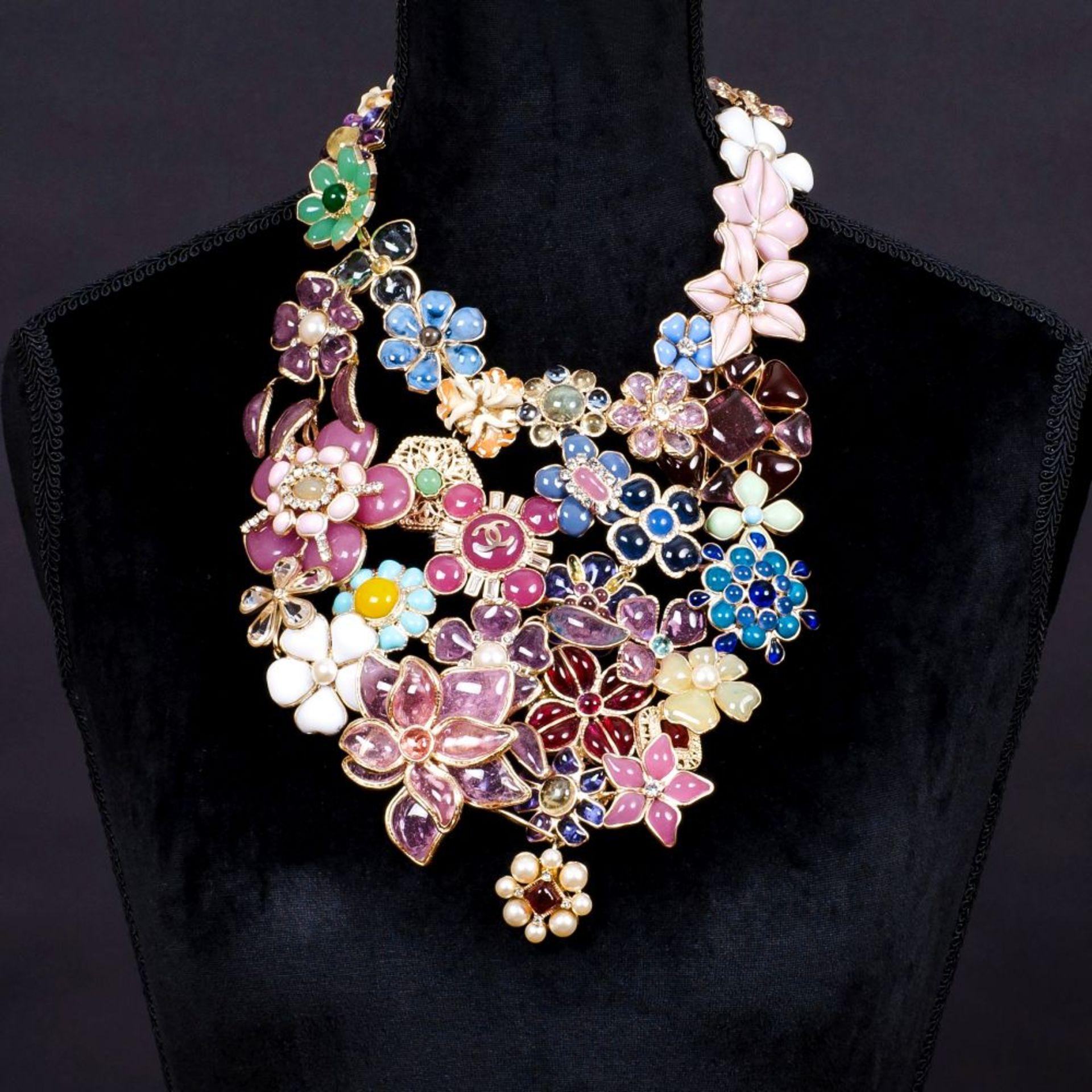 Chanel. Maison Gripoix Blüten-Collier. - Image 2 of 2