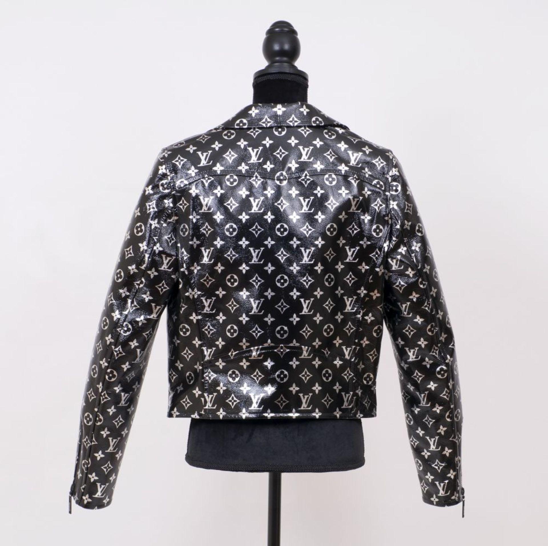 Louis Vuitton. Monogram Printed Biker Jacket. - Image 2 of 2