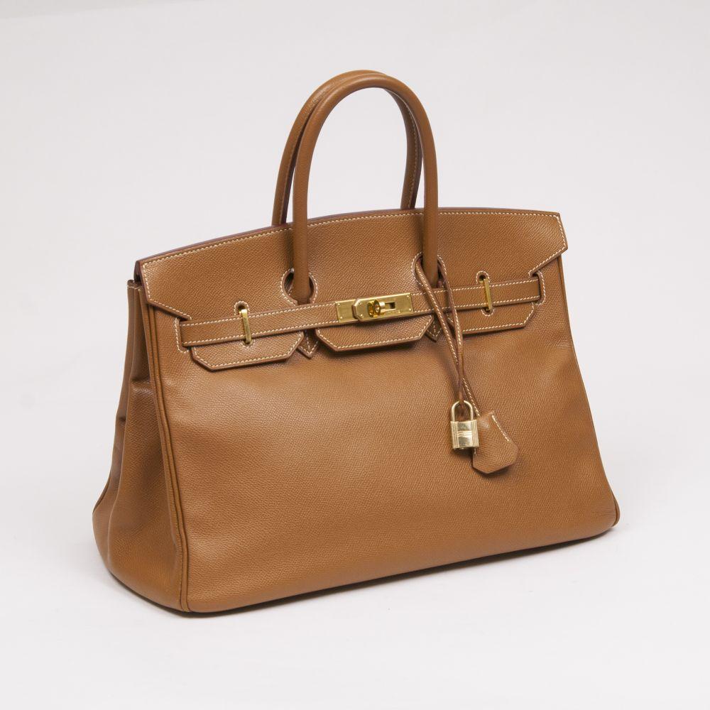 Hermès. Birkin Bag 35 Gold Epsom.