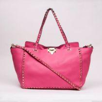 Valentino Garavani. Rockstud Tote Bag Pink.