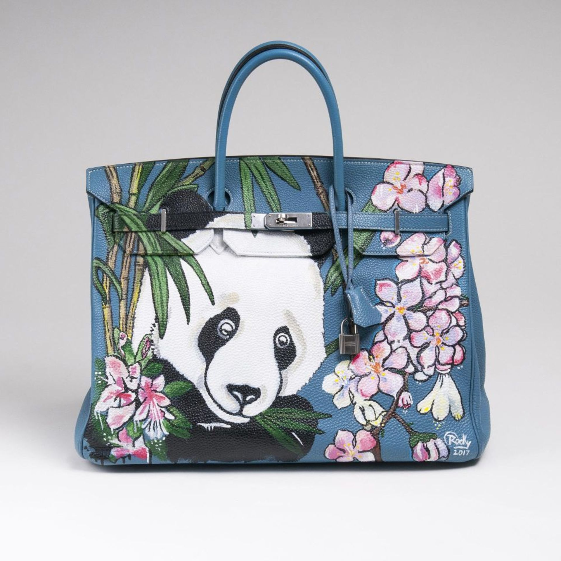 Hermès. Birkin Bag 40 mit Handbemalung von Rocky Mazzilli.