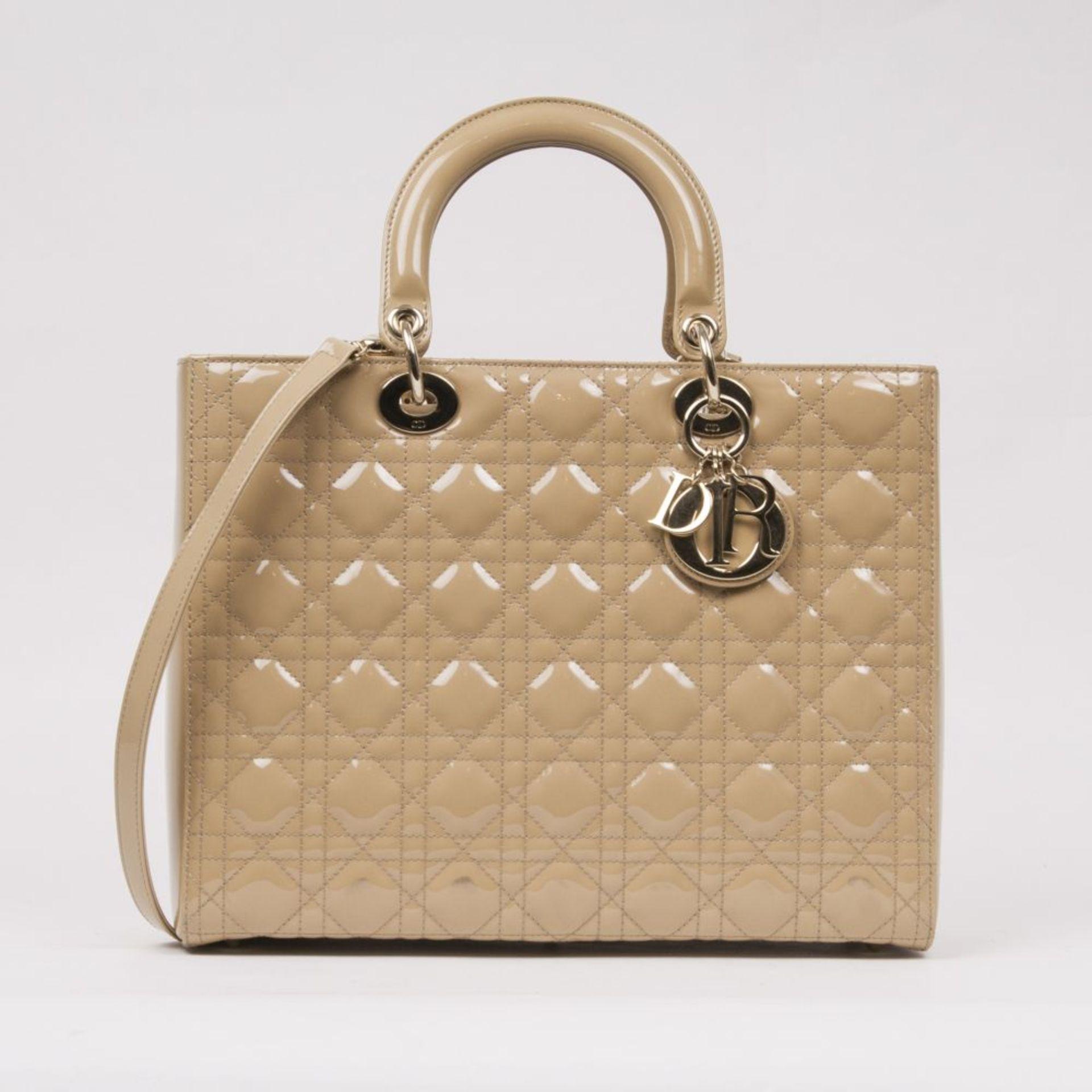 Christian Dior. Lady Dior Bag Beige.