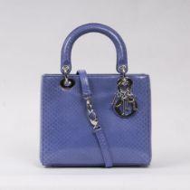 Christian Dior. Lady Dior Bag Python Blue.