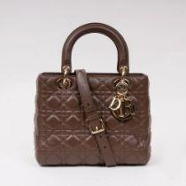 Christian Dior. Lady Dior Bag Dunkelbraun.
