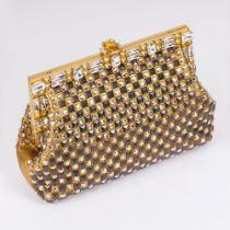 Dolce & Gabbana. Clutch mit Swarovski-Kristallen und Nieten.
