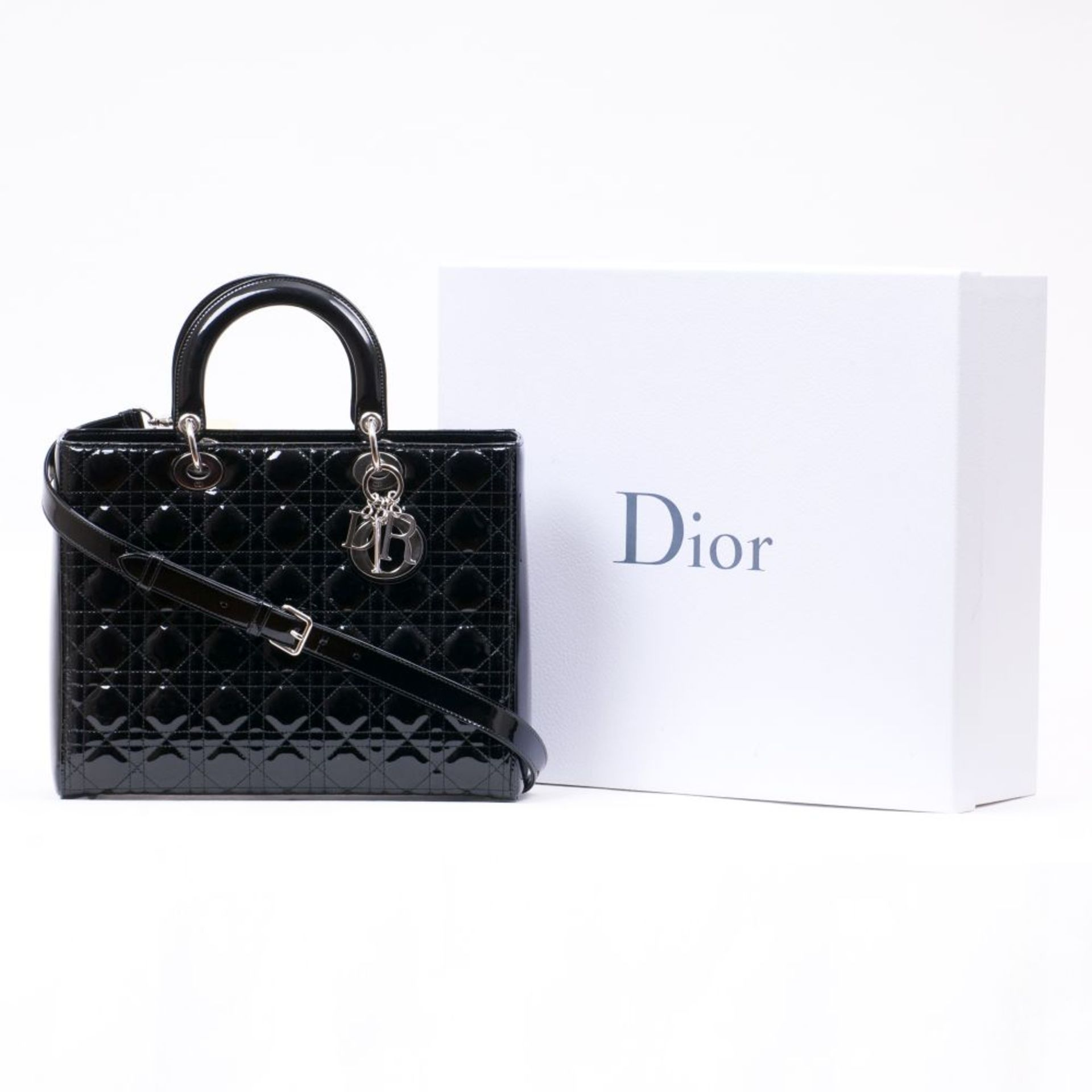 Christian Dior. Lady Dior Bag Black. - Image 2 of 2