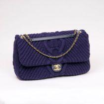 Chanel. Große Flap Bag Wool Tweed.