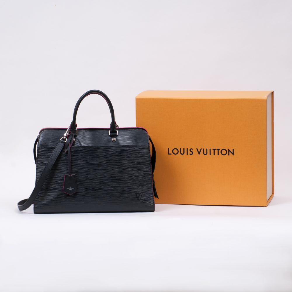 Louis Vuitton. Business Bag Schwarz. - Image 2 of 2